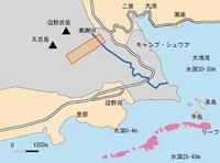 辺野古海岸線とキャンプ・シュワブ