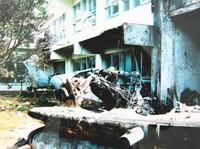 沖縄国際大学に墜落したヘリコプター